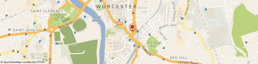 Route/map/directions to Cheap Shoe Boxes, WR1 2NT Worcester, 79 Friar Street, Unit 288