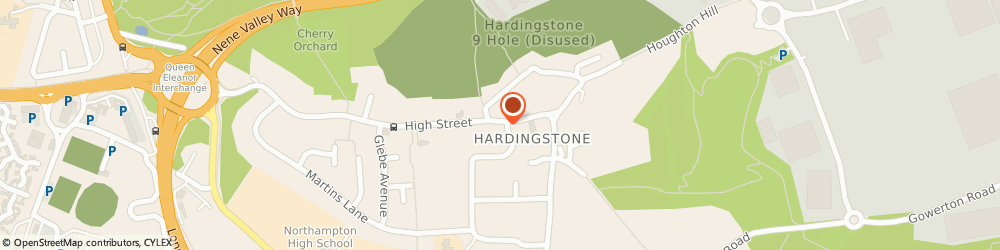 Route/map/directions to Hocus Crocus, NN4 6BZ Hardingstone, 19 High St