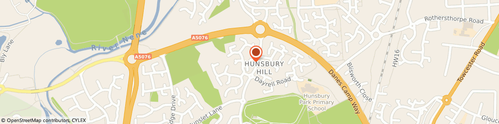 Route/map/directions to Paul C Barber, NN4 9YG Northampton, 10, MILLER HILL