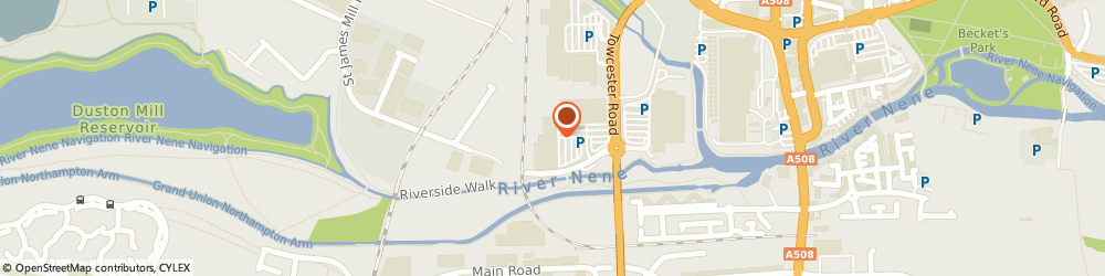 Route/map/directions to Dreams Ltd, NN1 1ET Northampton, Nene Valley Retail Park, St James Mill Road East
