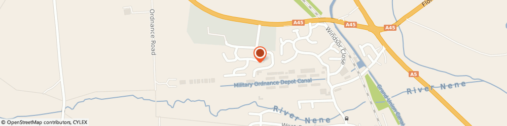 Route/map/directions to Sleep Haven, NN7 4TG Northampton, 51 Cavalry Fields