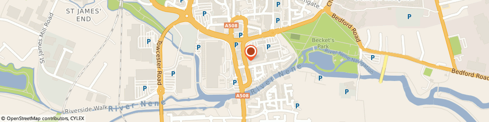 Route/map/directions to NatWest - NORTHAMPTON ATM, NN1 1HB Northampton, Cattle Market Road