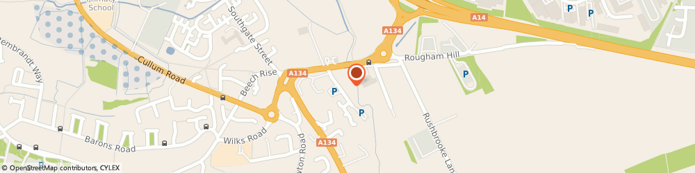 Route/map/directions to Pets Corner, IP33 2RN Bury St Edmunds, Rougham Road