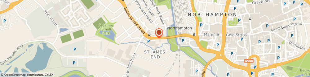 Route/map/directions to Lloyds Bank - Northampton ATM, NN5 5HS Northampton, St. James Road