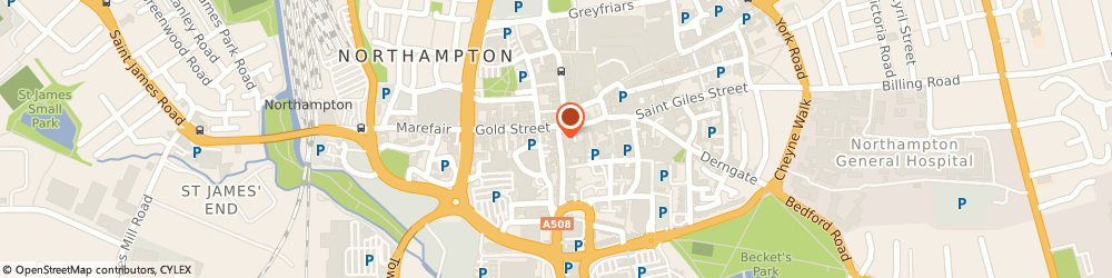 Route/map/directions to Groove, NN1 1RS Northampton, 2-10 TOWN CENTRE GOLD STREET