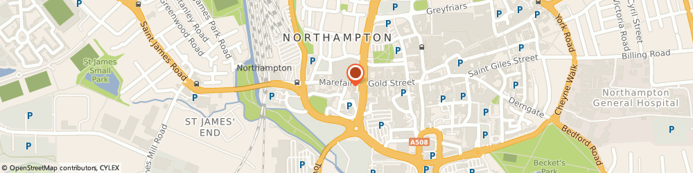 Route/map/directions to Fitness 4 Less Northampton, NN1 1SR Northampton, Sol Central, Mare Fair, 1st floor
