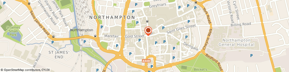 Route/map/directions to Yorkshire Bank, NN1 1EN Northampton, 7 Gold Street