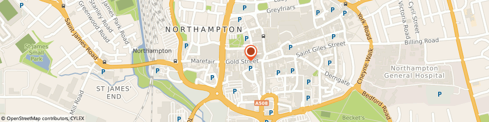 Route/map/directions to H&S Golden Scissors, NN1 1RS Northampton, 48 Gold St