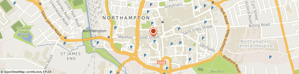 Route/map/directions to The Oriental Food Store, NN1 1RS Northampton, 26-28 Gold Street