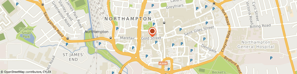 Route/map/directions to Marvee, NN1 1RS Northampton, 28A Gold Street