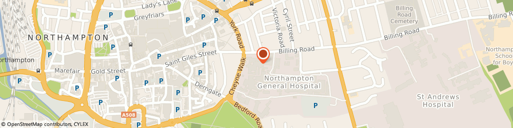 Route/map/directions to Richmond Library, NN1 5BD Northampton, WILLIAM KERR BUILDING, NORTHAMPTON GENERAL HOSPITAL