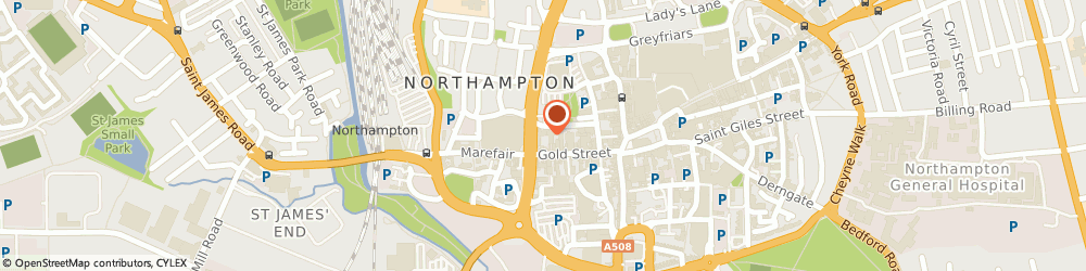 Route/map/directions to SERVITE HOUSES Northampton, NN1 2AX Northampton, St Katherine's Terrace