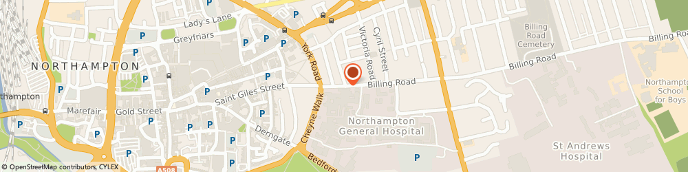 Route/map/directions to Lyndon Thomas Limited, NN1 5AN Northampton, 7 BILLING ROAD