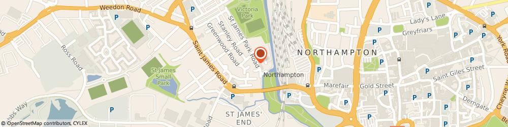 Route/map/directions to Todd Webb & Co, NN5 5DN Northampton, Unit 7 Victoria Bus Pk, St. James Pk Road