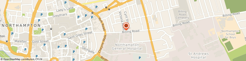 Route/map/directions to Peak Performance Sports Injury Clinic, NN1 5AW Northampton, 21 Billing Rd