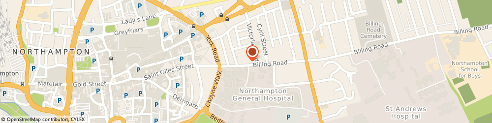 Route/map/directions to Springhill Marketing, NN1 5AW Northampton, Beckett House, 14 Billing Road