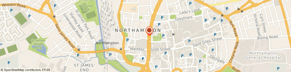 Route/map/directions to PRACA CAFE LTD, NN1 2DL Northampton, 13 Market Square