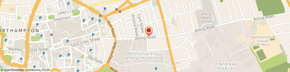 Route/map/directions to Spencer House Properties Limited, NN1 5AJ Northampton, EAGLE HOUSE, 28 BILLING ROAD