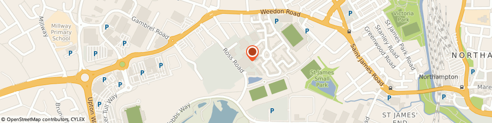 Route/map/directions to Secom PLC, NN5 5AX Northampton, Unit 6, Ross Rd Bus Ctr, Weedon Road
