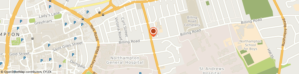 Route/map/directions to Bupa Dental Care Northampton, NN1 5BA Northampton, 41 Billing Rd