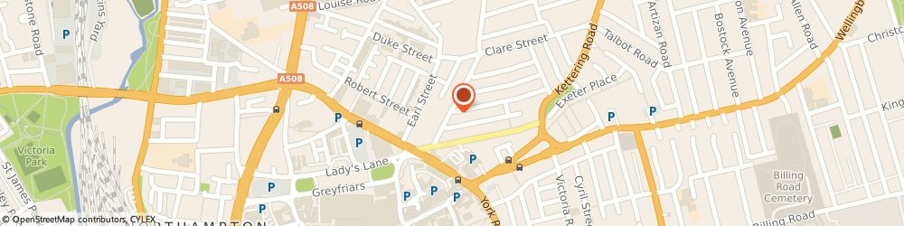Route/map/directions to The Lamplighter, NN1 3JS Northampton, 66 Overstone Rd