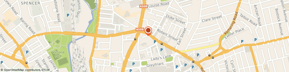 Route/map/directions to HiQ Tyres & Autocare Northampton (Campbell Street), NN1 3DS Northampton, 11 Campbell Street