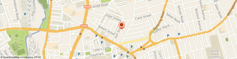 Route/map/directions to Exterior Plumbing Services Ltd, NN1 3AX Northampton, 55 Earl St