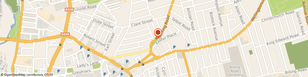 Route/map/directions to Rba Properties, NN1 4AU Northampton, 97 Kettering Road