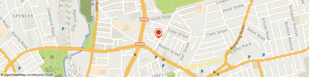 Route/map/directions to Elms Dental Surgery, NN1 5BE Northampton, The Elms