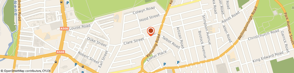 Route/map/directions to Brockhall Coach & Body Works, NN1 3JA Northampton, 119 Clare St