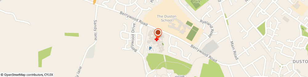 Route/map/directions to Berrywood Hospital Library, NN5 6UD Northampton, BERRYWOOD HOSPITAL, BERRYWOOD DRIVE