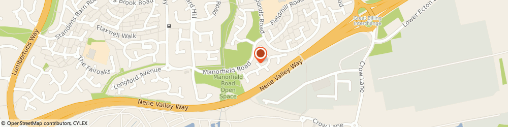 Route/map/directions to CHARLTEC ELECTRICAL LIMITED, NN3 9SP Northampton, 38 Manor Field Close