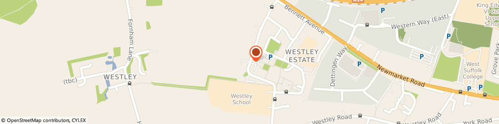 Route/map/directions to WESTBURY SOCIAL CLUB LIMITED, IP33 3JG Bury St Edmunds, Oliver Rd