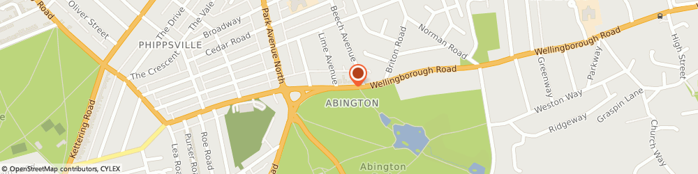 Route/map/directions to Abington Park Osteopathy Clinic, NN3 3HN Northampton, 479 Wellingborough Rd