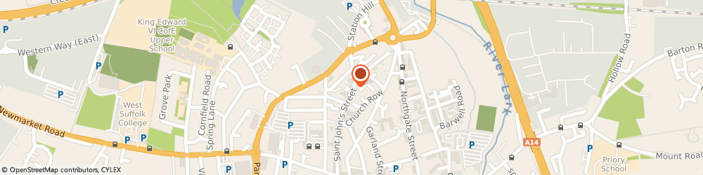 Route/map/directions to Milpets, IP33 1SQ Bury St Edmunds, 5 Saint John's Street