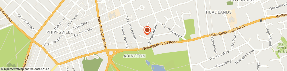 Route/map/directions to Greenearthpackaging, NN3 2BT Northampton, 4 Briton Gardens
