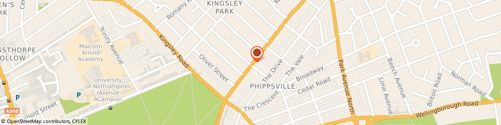 Route/map/directions to Health Pharm (Leicester) Ltd, NN2 7HH Northampton, 56 Kingsley Park Terrace