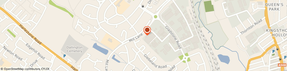 Route/map/directions to BP, NN5 7AS Northampton, Mill Lane
