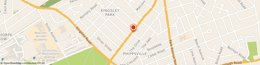 Route/map/directions to Express Ironing Services Northampton - North, NN2 7HJ Northampton, 96 KINGSLEY PARK TERRACE