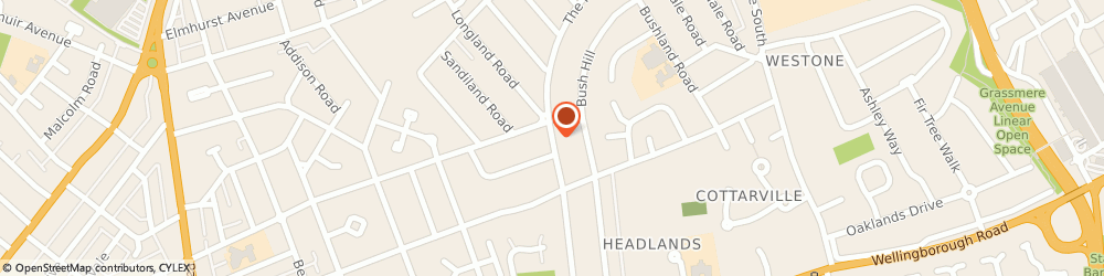 Route/map/directions to Carpets, NN3 2QG Northampton, 22, WHITELAND ROAD, THE HEADLANDS