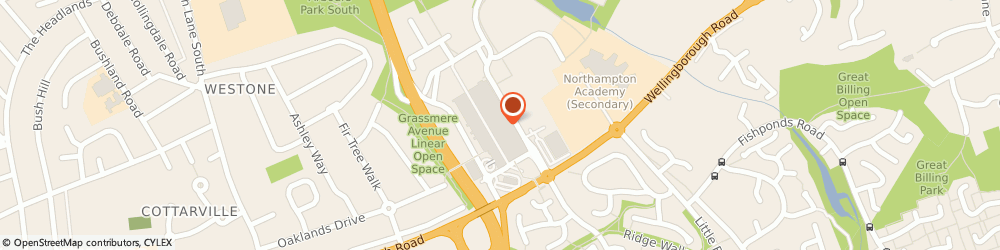 Route/map/directions to Barclays Bank Plc, NN3 8JZ Northampton, Unit 37-38 Weston Favell Centre Weston Favell
