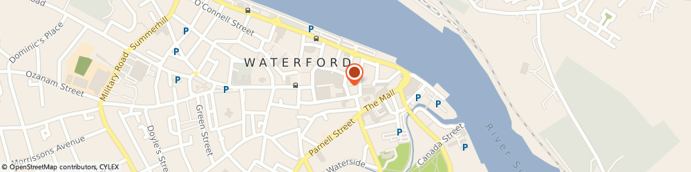 Route/map/directions to Debenhams Waterford,  Waterford, City Square Shopping Centre Peter Street
