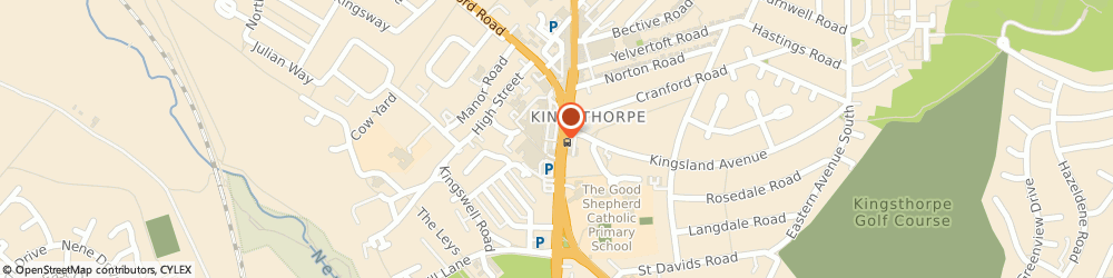 Route/map/directions to COSTA COFFEE, NN2 7BD Northampton, Unit B, Kingsthorpe Shopping Centre, Harborough Road