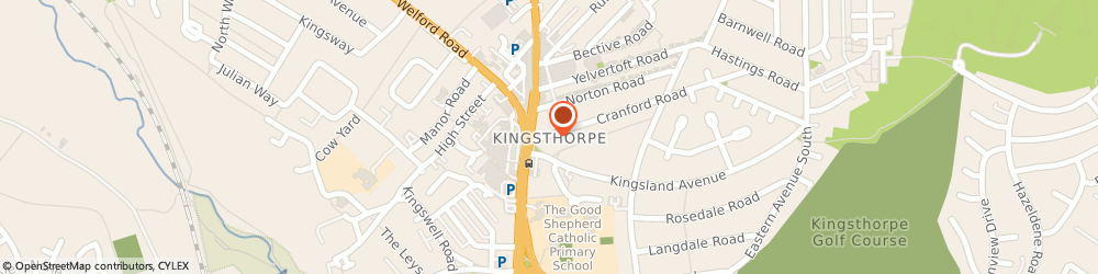 Route/map/directions to Russell Electrical Uk Ltd Northampton, NN2 7DR Northampton, Kingsthorpe
