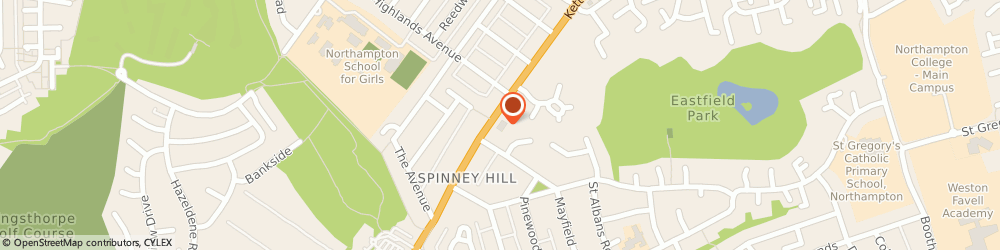 Route/map/directions to Spinney Hill Northampton, NN3 6LR Northampton, Kettering Road