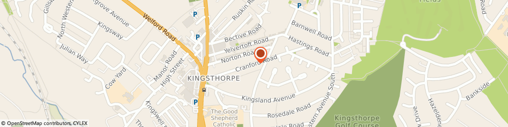 Route/map/directions to M.J Roan, NN2 7QX Northampton, 60 Cranford Rd