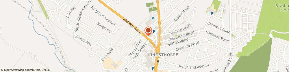 Route/map/directions to KINGSTHORPE MOTOR COMPANY of Northampton, NN2 8AG Northampton, 10 Welford Road