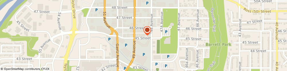 Route/map/directions to Eventide Funeral Home, T4N1K5 Red Deer, 4820 45 St