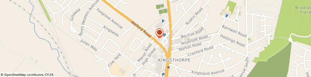Route/map/directions to Kingsthorpe Health Clinic, NN2 8AG Northampton, Welford Road