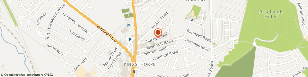 Route/map/directions to R J Electrical, NN2 7TB Northampton, 27 Bective Rd